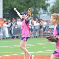 Created in 2009, the Congressional Women's Softball Game brings together women from both parties to raise awareness for breast cancer. In 2013, her first year on the team, Cheri was named Most Valuable Player.